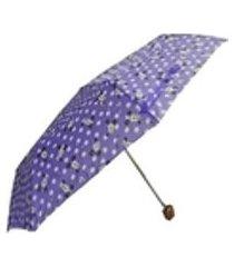 guarda chuva estampado roxo