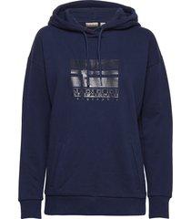 bhyamoli h hoodie trui blauw napapijri