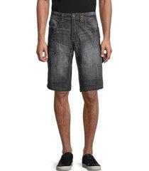 projek raw men's denim-look shorts - black - size 30