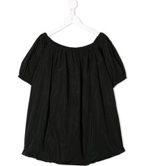 andorine oversized dress - black