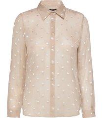 3179 - latia blouse lange mouwen beige sand