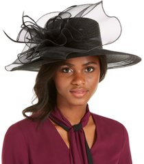 august hats wide-brim braided dressy hat