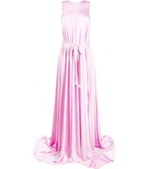 ann demeulemeester flared belted maxi gown - pink