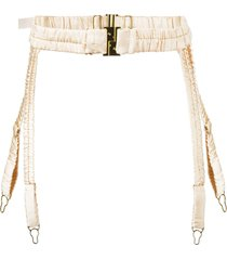 dolci follie 'heiress' suspender belt - metallic