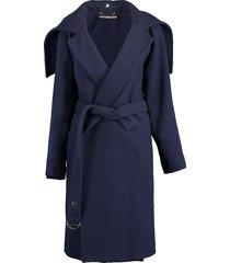 wool wrap coat w/belt
