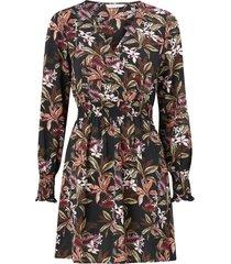 klänning onlnova lux l/s v-neck smock dress aop