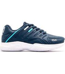 zapatilla azul fila lugano 6.0
