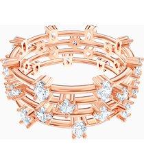 anello penã©lope cruz moonsun cluster, bianco, placcato oro rosa