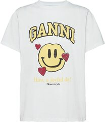 basic cotton jersey t-shirts & tops short-sleeved ganni