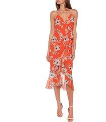 women's bardot loretta floral wrap front dress