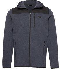 varde hooded fleece jacket sweat-shirts & hoodies fleeces & midlayers grå helly hansen