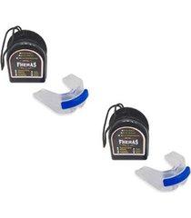 2 protetor bucal anti bruxismo duplo silicone c/ furo de respiração