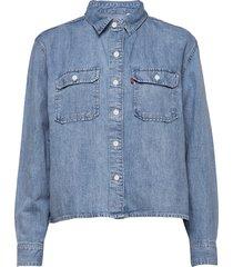 olsen utility shirt loosey goo långärmad skjorta blå levi´s women