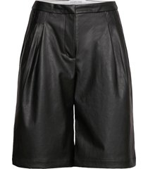 marie waist shorts shorts leather shorts svart designers, remix