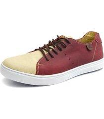 sapatênis miami em couro shoes grand masculino - masculino