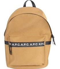 a.p.c. front logo panel backpack