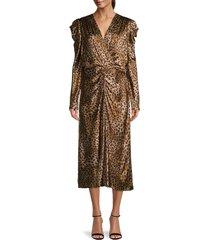jonathan simkhai women's maisie leopard-print midi dress - camel - size 6