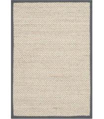 safavieh natural fiber marble and dark gray 3' x 5' sisal weave area rug