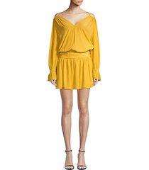 evan off-the-shoulder blouson dress