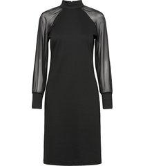 sc-dena solid knälång klänning svart soyaconcept
