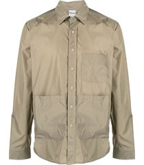 aspesi single-breasted shirt - neutrals