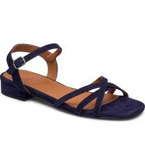 sandals 4025 shoes summer shoes flat sandals blå billi bi