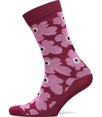 hieta unikko socks lingerie socks regular socks rosa marimekko