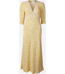rixo women's gemma midi dress - micro mod floral - l