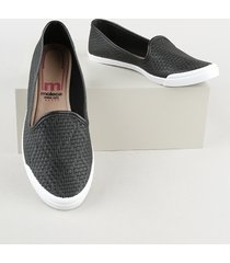 slipper feminino moleca tressê preto