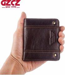 nuevo monedero delgado para hombres de cuero genuino carteras de los-cafe