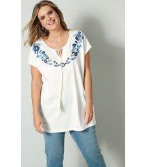 shirt janet & joyce offwhite::marine