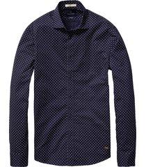 blauw heren overhemd scotch&soda 101423