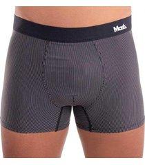 cueca mash modelo boxer listras em risca de giz em microfibra masculino - masculino