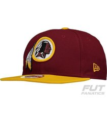boné new era nfl washington redskins 950 classic bordô
