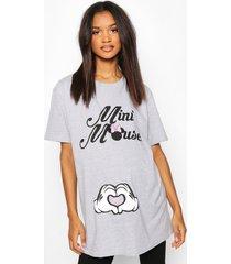 maternity mini mouse disney t-shirt, light grey