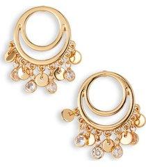ettika cutout charm hoop earrings in gold at nordstrom