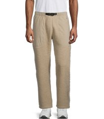 champion men's teddy fleece belted pants - brown - size xl