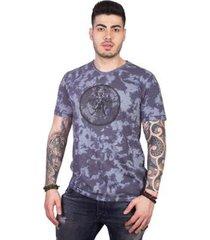 camiseta 4 ás manga curta vitruviano tie dye masculina - masculino