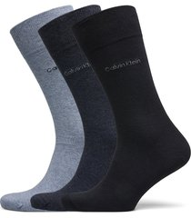 ck 3pk eric cotton 003 underwear socks regular socks blå calvin klein