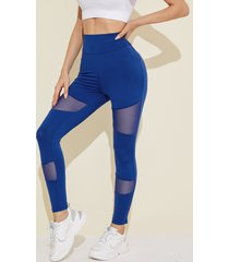 yoins sports patch mesh leggings de yoga súper elásticos