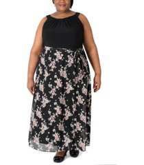 robbie bee plus size halter maxi dress