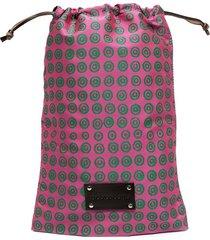10 corso como logo-print pouch bag - pink