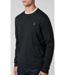 polo ralph lauren men's merino wool sweatshirt - dark granite heather - xxl