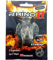 rhino 11 platinum 30000 pouches - male enhancement supplement - 100 pills + gift