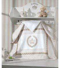 toalha de banho dohler infantil willian, com capuz, bege