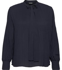 blouse long-sleeve blouse lange mouwen blauw taifun