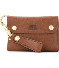 as2ov oiled shrink short wallet - brown