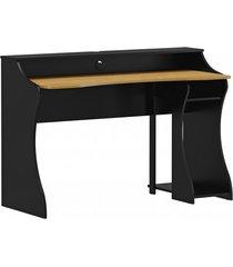 mesa gamer finestra linha madri cor carvalho/ preto