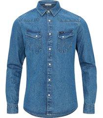 jeansskjorta western denim shirt
