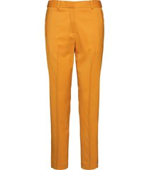 stripe insert stl an pantalon met rechte pijpen geel calvin klein